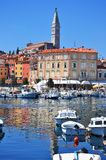 Old town architecture of Rovinj Royalty Free Stock Images