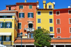 Old town architecture of Rovinj Stock Photo