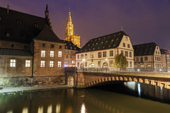 Old Town architecture with Strasbourg Minster. Strasbourg, Alsac Stock Photo