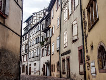 Old town area in Colmar, Alsace, France Stock Images