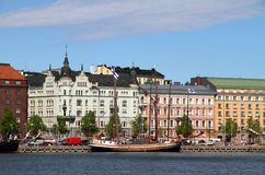 Old Town area in Helsinki, Finland Royalty Free Stock Photography