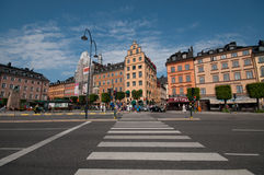 Old Town and the area Kornhamnstorg, Stockholm, Sweden Stock Photos