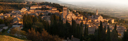 Old town of Assisi Stock Images