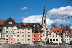 Old town Bad Toelz, Germany Royalty Free Stock Images
