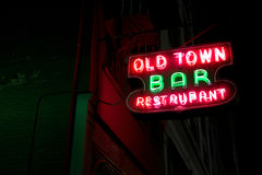 Old Town Bar and Restaurant Neon Sign