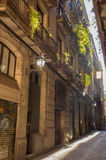 The Old Town of Barcelona Stock Images