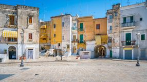 Old town in Bari, Apulia, southern Italy. Bari is a port city on the Adriatic Sea, and the capital of southern Italy's Puglia region. Its mazelike old stock photo
