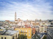 Old town of Bari, Puglia, Italy. Panoramic view of old town in Bari, Puglia, Italy stock photos