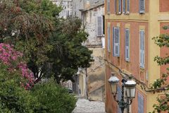 In the old town of Bastia, Corsica, France Royalty Free Stock Photos