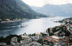 The Old town and bay of Kotor Royalty Free Stock Photography