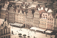 Old town. The beauty of Wroclaw saved using photo Royalty Free Stock Photography