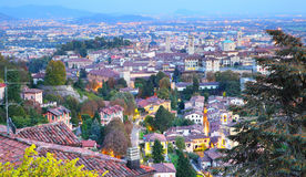 Old Town of Bergamo Stock Images