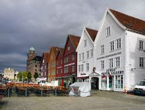 Bergen Bryggen Waterfront, Norway Royalty Free Stock Image