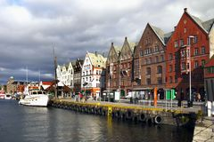 Bergen Bryggen Waterfront, Norway Royalty Free Stock Photo