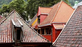 Bergen, Norway its characteristic roofs Stock Image