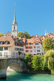 Old town of Bern and Aare river Royalty Free Stock Photo