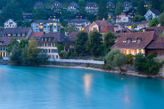 Old town of Bern at night Royalty Free Stock Photos