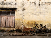 Old Town Bicycle. Vintage style Stock Photo