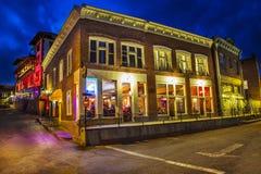 Old Town Bisbee Arizona at Night Stock Image