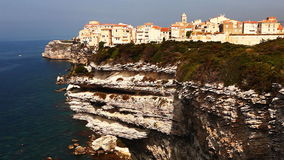 The old town of Bonifacio, Corsica stock footage