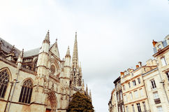 Old town in bordeaux city Royalty Free Stock Photos