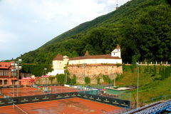The old town Brasov (Kronstadt), in Transilvania. Stock Photography