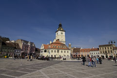 Old Town in Brasov. Market place in Brasov Romania Royalty Free Stock Images