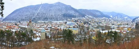 Old town of Brasov panorama Stock Image