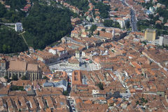 Old Town Brasov. View over the rooftops of the old town of Brasov Stock Images