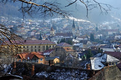 Old town of Brasov in winter Royalty Free Stock Photo
