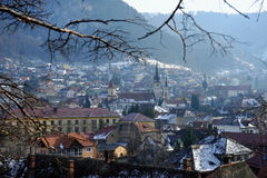 Old town of Brasov in winter Royalty Free Stock Image
