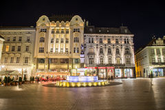 Old Town Bratislava at Night Stock Images