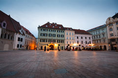 Old town in Bratislava. One of the main squares in the old town of Bratislava, Slovakia Stock Images