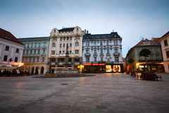 Old town in Bratislava. One of the main squares in the old town of Bratislava, Slovakia Royalty Free Stock Photo