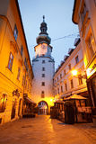 Old town in Bratislava. In the streets of Bratislava's old town, Slovakia Royalty Free Stock Images