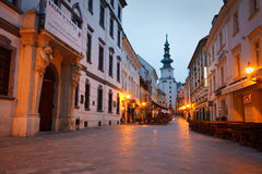 Old town in Bratislava. In the streets of Bratislava's old town, Slovakia Stock Photos