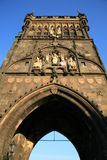 Old Town Bridge Tower royalty free stock images
