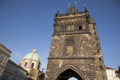 Old Town Bridge Tower, Charles Bridge, Prague Stock Images
