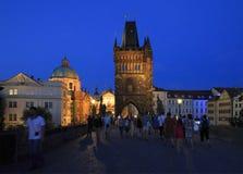 Old Town Bridge Tower. Charles Bridge. In Prague Stock Image