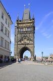 Old Town Bridge Tower. Charles Bridge. In Prague Stock Photography