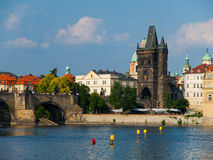 Old Town Bridge Tower at Charles Bridge Stock Images