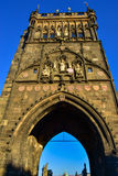 Old Town Bridge Tower on Charles Bridge in Prague Stock Photography