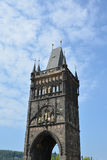 The old town bridge tower at the famous Charles Bridge in Prague Royalty Free Stock Photography