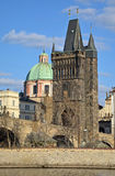 Old Town Bridge Tower in Prague Stock Image