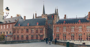 Old Town Bruges with City Hall in Background Stock Images