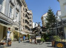 Old town of Bucharest, Lipscani District Stock Photos