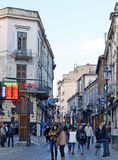 Old Town, Bucharest, Romania: Exchange Rates Royalty Free Stock Images