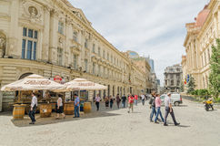 Old Town Bucharest Stock Photography