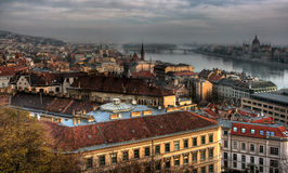 Old Town in Budapest. Hungary View from the royal Castle: Buda stock image