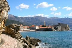 Old town Budva. Montenegro Budva old town historic architecture Royalty Free Stock Photography